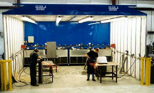 Large Dust Collector Booth