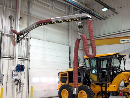 Crane Arm With High-Temp Hose (Diesel Engine Testing Station #3)