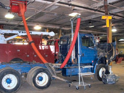 Hose Reel / Portable Diesel Crane for Truck Repair Facility