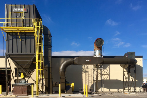 Top-Loading Airex Baghouse Dust Collector